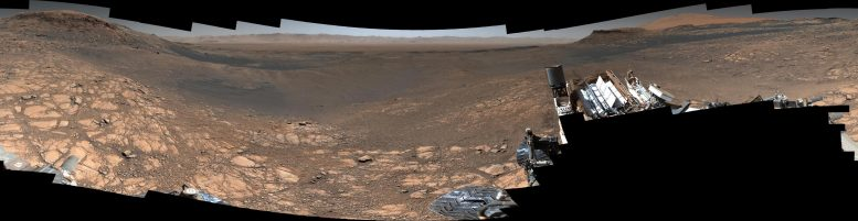 Curiosity Mars Rover High Resolution Panorama