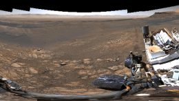 Curiosity Mars Rover High Resolution Selfie Panorama