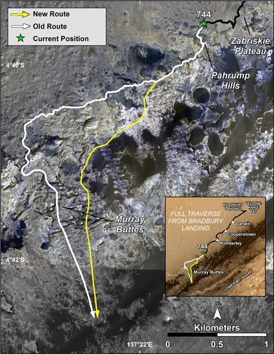 Curiosity Rover Arrives at Mount Sharp