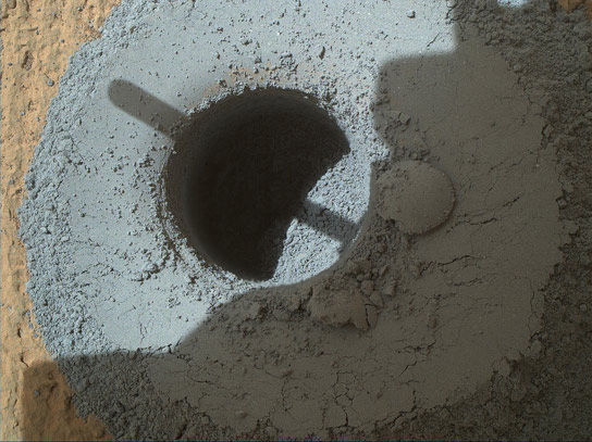 Curiosity Rover Drills at Telegraph Peak