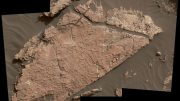 Curiosity Rover Examines Possible Mud Cracks