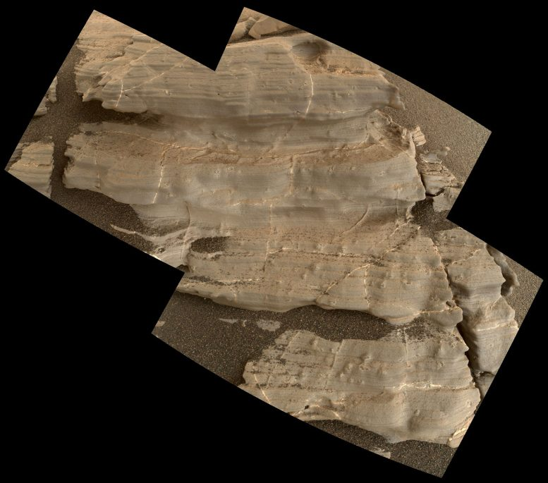 Curiosity Rover Views Crystal-Shaped Bumps on Bedrock