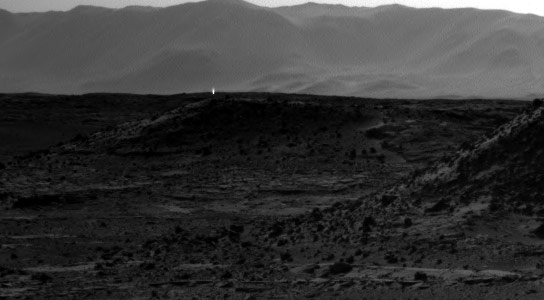 Curiosity Sees Mysterious Bright Spot