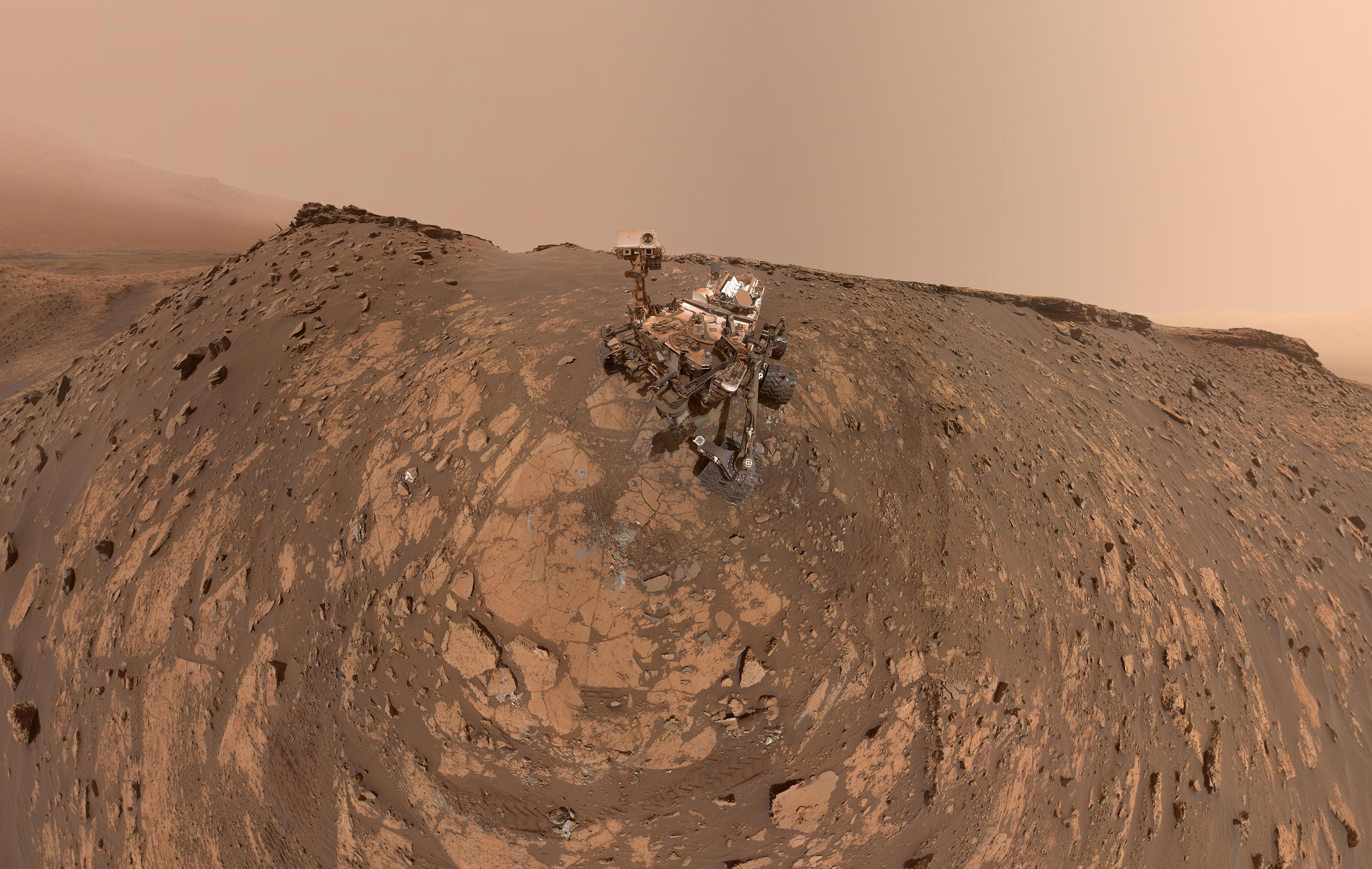 NASA's Curiosity Takes New Selfie After Setting Record On Mars