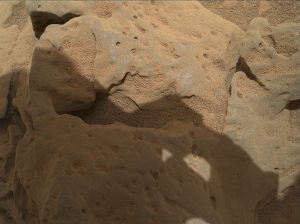 Curiosity shows a rock called Burwash