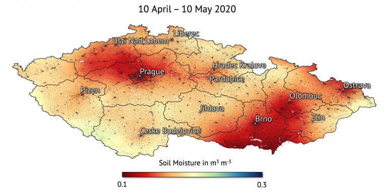 Czech Republic Soil Moisture 2020