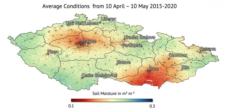 Czech Republic Soil Moisture Average