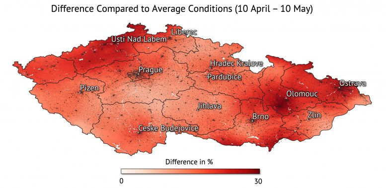Czech Republic Soil Moisture Difference