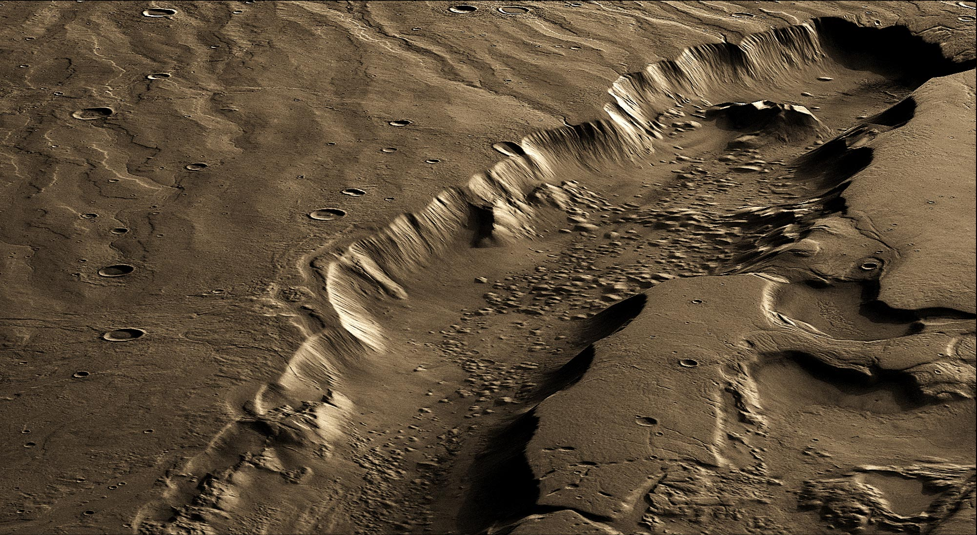 Best Region for Life on Mars Was Miles Below Surface