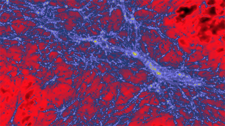 Dark Matter Density 500 Million Years After the Big Bang