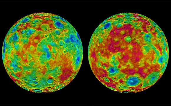 NASA's Dawn Reveals Topography on the Surface of Dwarf Planet Ceres