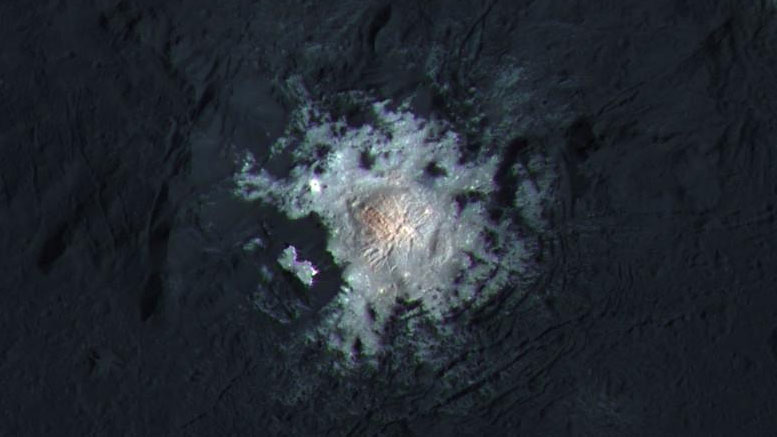 Dawn Spacecraft Identifies Age of Ceres' Brightest Area