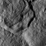 Dawn Spacecraft Shows Part of Messor Crater