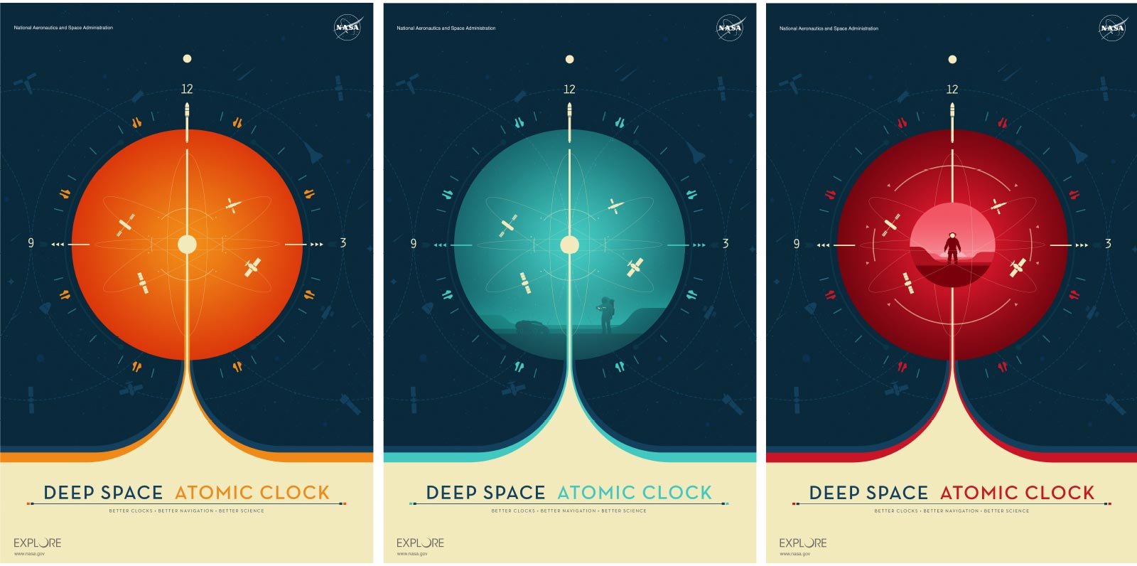 Deep Space Atomic Clock Posters.'