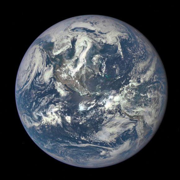 "Deep Space Climate Observatory Satellite Captures ""EPIC"" Earth Image"