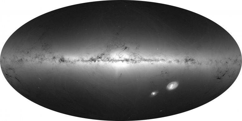 Density of stars from the first data of Gaia 3