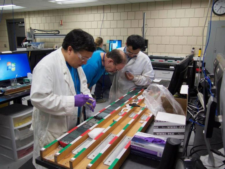 Deocampo and Colleagues Collecting Samples