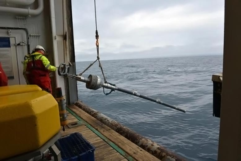 Deploying Sediment Coring Device