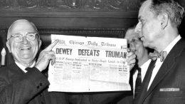 Dewey Defeats Truman Newspaper Cover