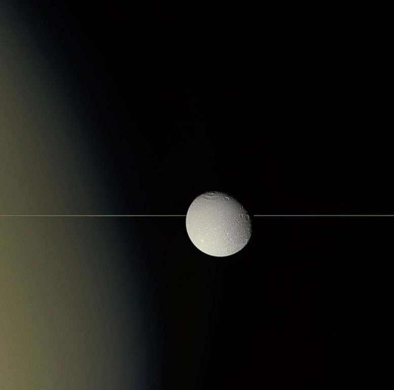 Dione on the Edge Image