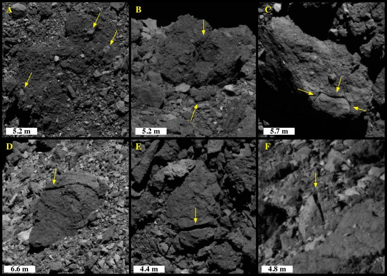 Disaggregation and Linear Fractures Asteroid Bennu