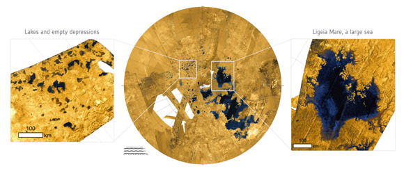 Dissolving Lakes and Seas on Titan