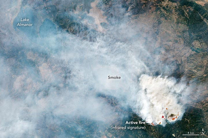 Dixie Fire August 2021 Annotated