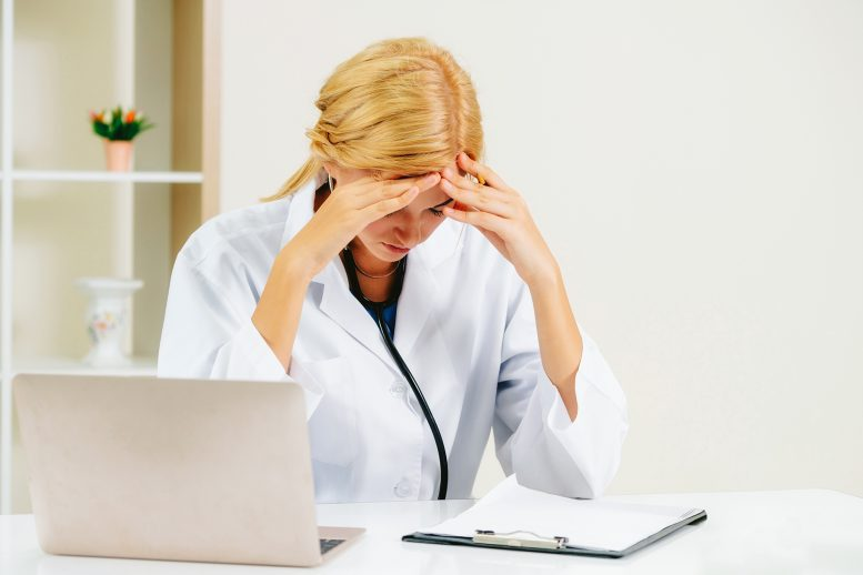 Doctor Frustrated Electronic Medical Records