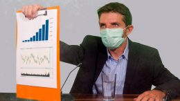Doctor Presenting Outbreak Model Results