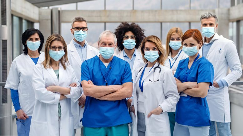 Doctors Wearing COVID Face Masks