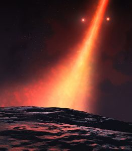 Double Star System Flips Planet Forming Disk