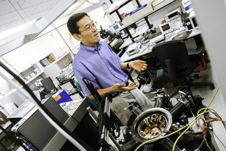 Dr. Mark Lee, head of the Department of Physics in the School of Natural Sciences and Mathematics