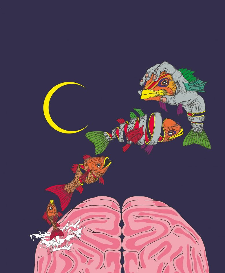 Dream Illustration Overfitted Brain Hypothesis