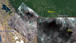 ECOSTRESS Imagery of Fires Burning in the Bolivian Amazon