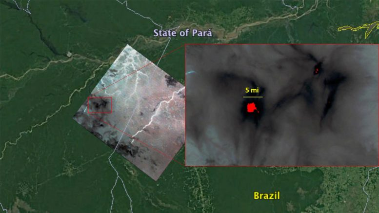 ECOSTRESS Imagery of Fires Burning in the Brazilian Amazon