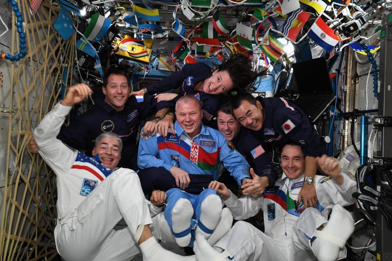 ESA Astronaut Thomas Pesquet and Crew Mates Very First Space Olympics