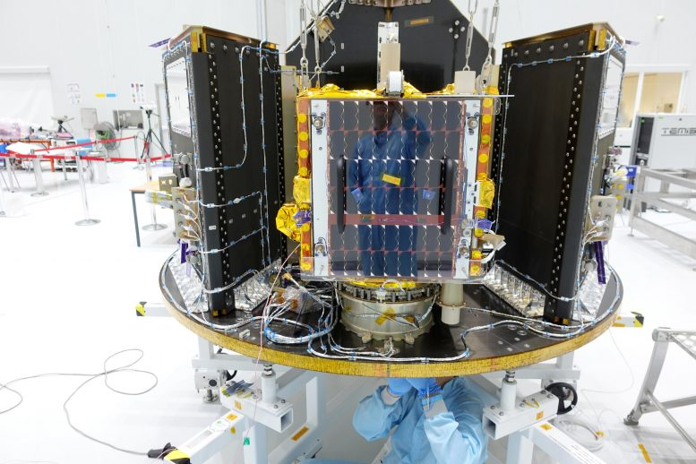 ESAIL Satellite Mounted on Vega Small Satellite Dispenser