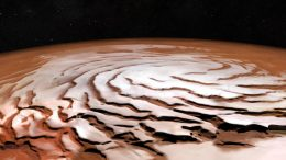 ESA's Mars Express Views the Red Planet's North Polar Ice Cap