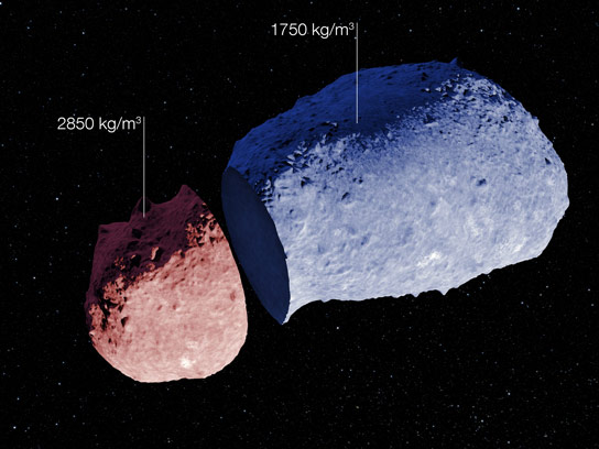 ESO Discovers First Evidence that Asteroids Can Have a Highly Varied Internal Structure