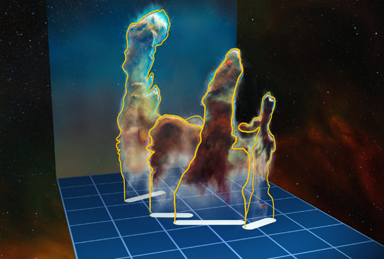 ESO Reveals The Pillars of Creation in 3D