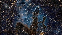 Eagle Nebula's Pillars of Creation in Infrared