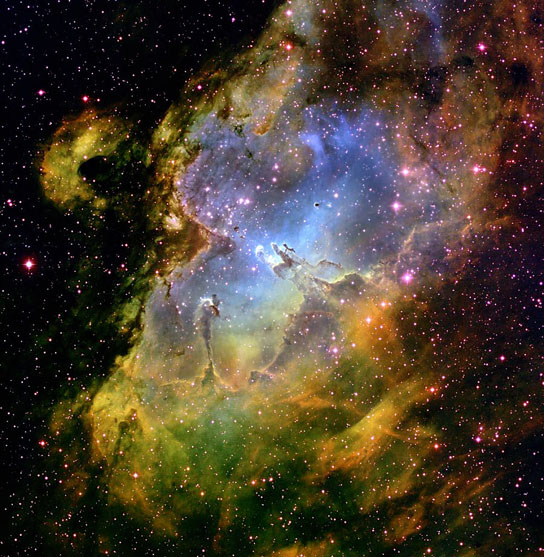 Eagle Nebula made with data from the Kitt Peak telescope
