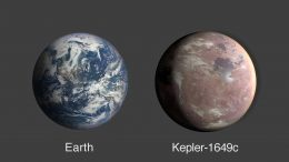 Earth Kepler 1649c Compared