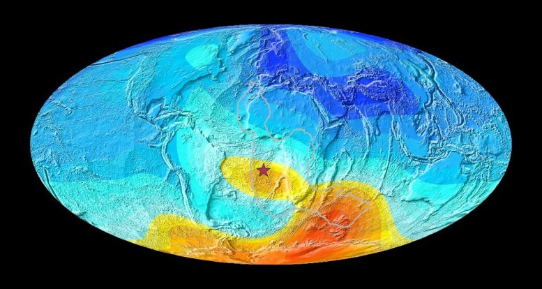 Earth Magnetic Field Direction Deviation