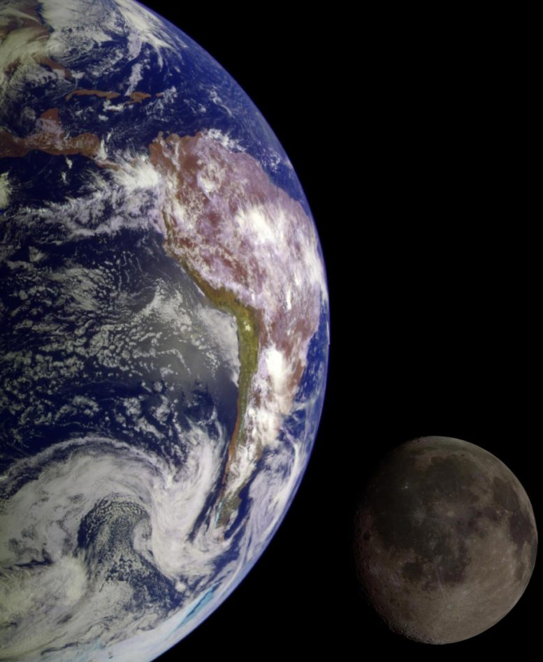 Earth and Moon Galileo Composite