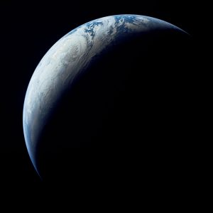 Earth as Viewed From 10,000 Miles Away