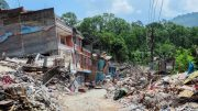 Earthquake Destroyed Village