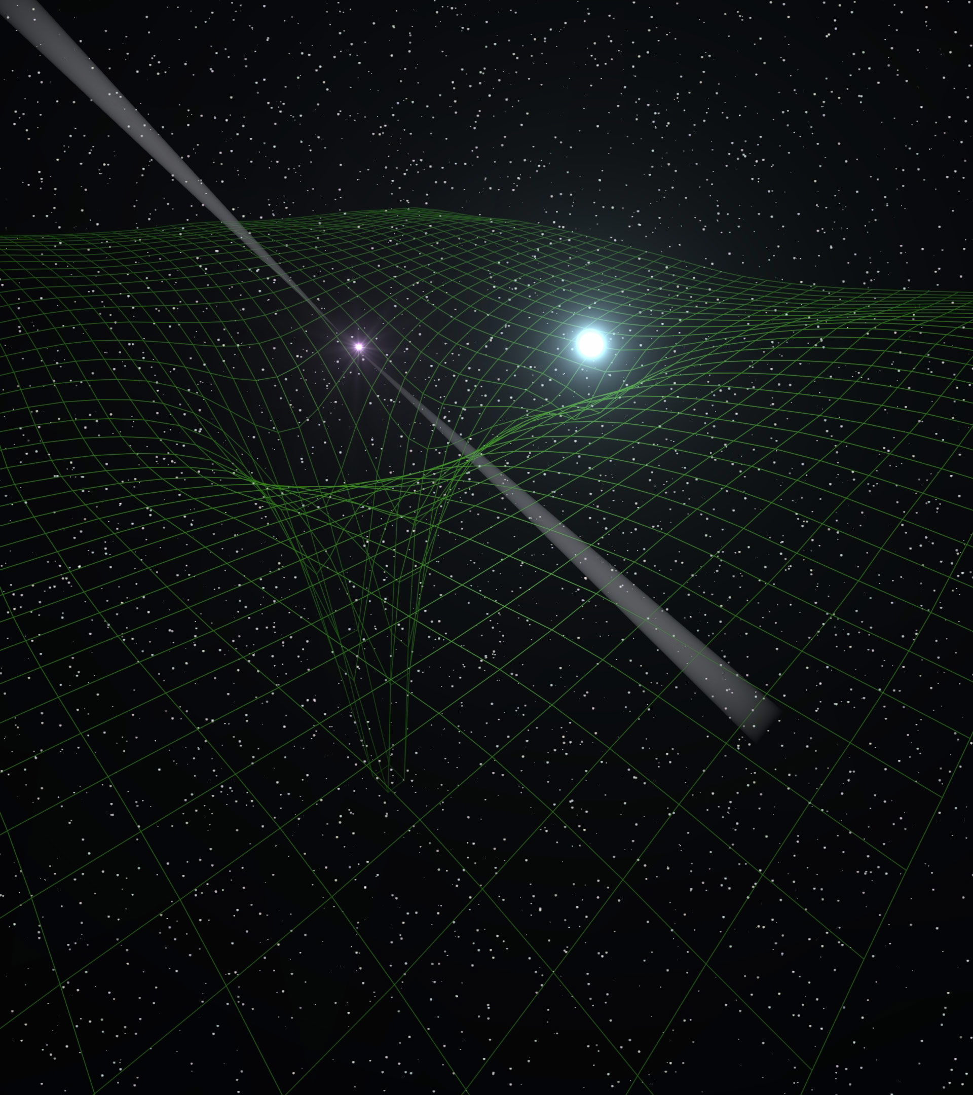 Observations of a pulsar and its white dwarf companion for Space time theory