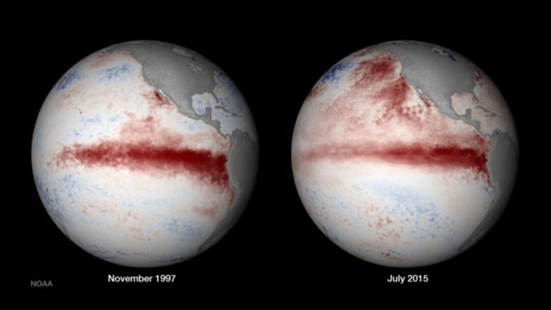 El Nino in 1997 and in 2015