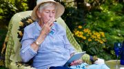 Elderly Woman Smoking Cannabis